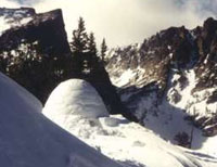 winter backpacking trip with National Ski Patrol